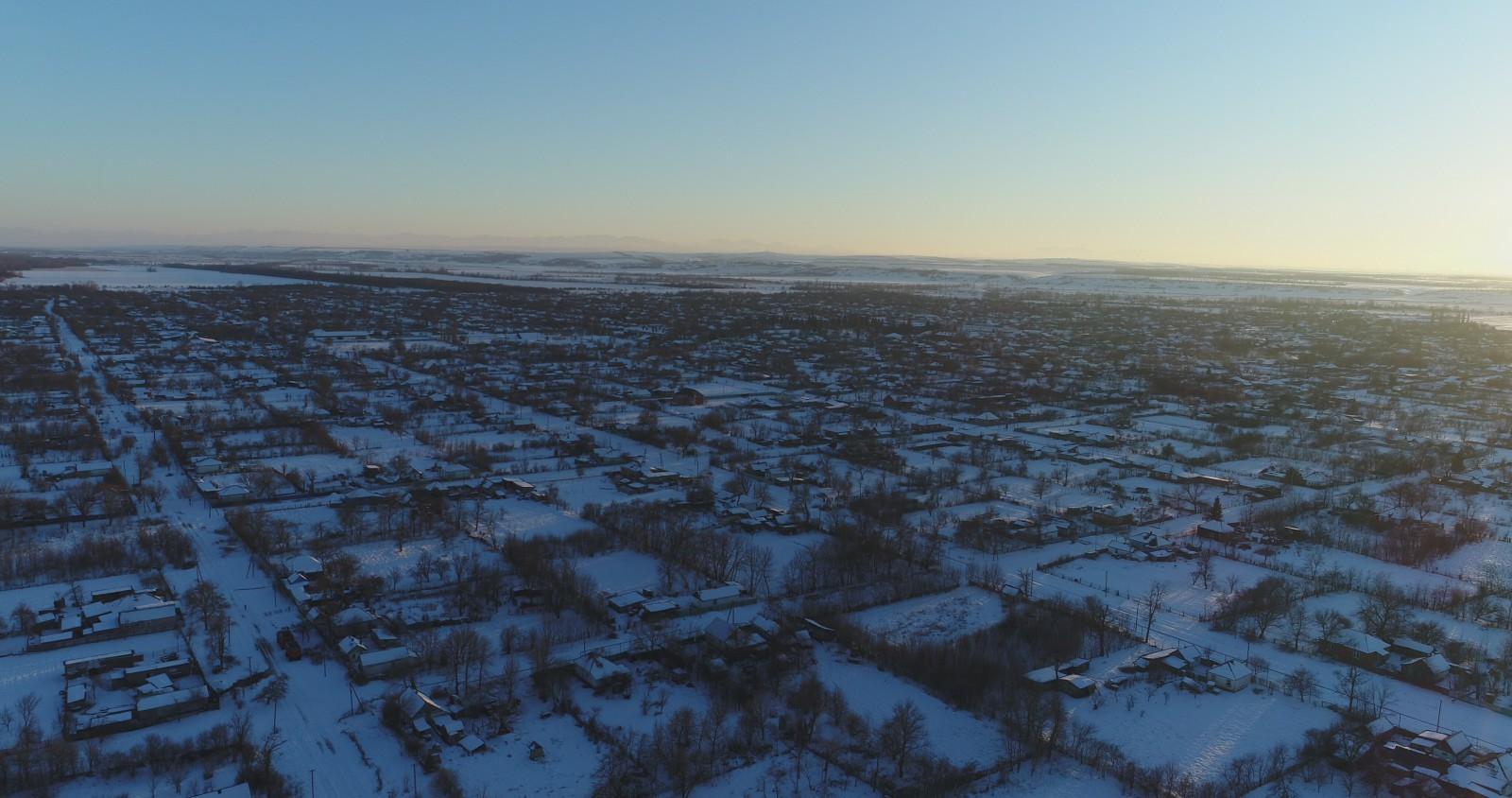 мое село зимой